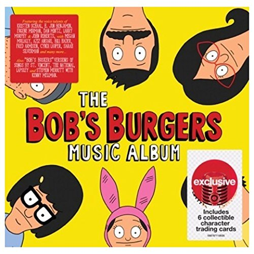 The Bobs Burgers Music Album 2cd set with 6 collectible character trading cards