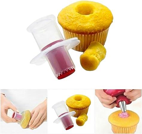 Pack de 2, ya Jin Cupcake Muffin Pastel corer émbolo cortadores ...