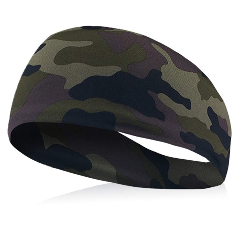 Sport Sweat Headband Men Sweatband For Men and Women Yoga Hair Bands Head Sweat Bands Sports Safety,E