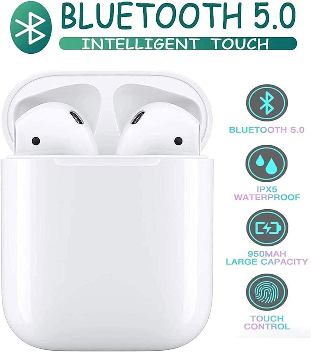 Kompatibel mit Allen Smart-Ger/äten-Wei/ß Bluetooth-Kopfh/örer,kabellose Touch-Kopfh/örer HiFi-Kopfh/örer In-Ear-Kopfh/örer Rauschunterdr/ückungskopfh/örer,Tragbare Sport-Bluetooth-Funkkopfh/örer