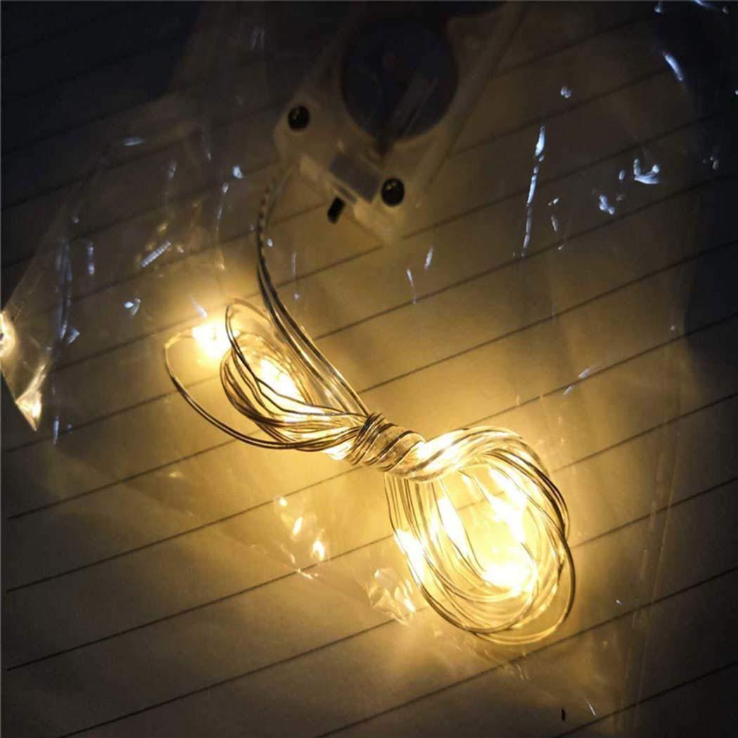 Gfone La Forma geom/étrica Ahorro de energ/ía Enciende la decoraci/ón casera de Las Luces LED Iluminaci/ón de Navidad de Exterior