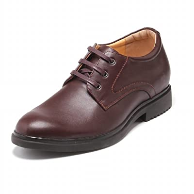 TopoutShoes Height Increasing Dress Shoes 2.2inch Taller Elevator Formal Shoes Add Altitude Oxfords