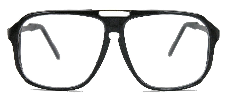 oversized Nerd Brille 70er 80er Jahre Streberbrille Retro Kassengestell Damen Herren WY WLY