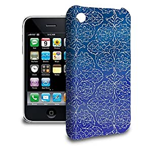 Phone Case For Apple iPhone 3/3GS - Sparkling Damask Back Wrap-Around