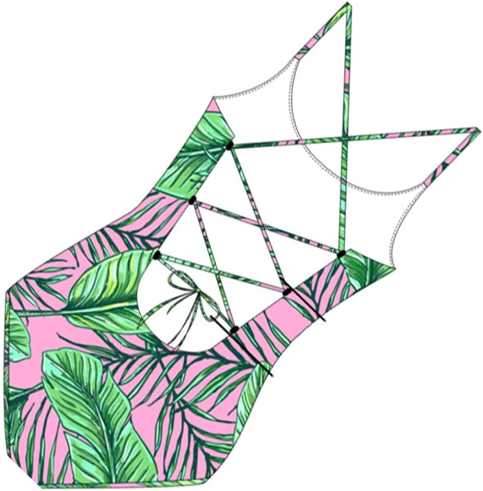 Mother and Daughter Matching Swimwear One Piece Bikini Flower Floral Print Lace Ruffle Swimsuit Made by MISSugar