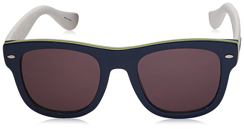 BLUE WHTE Havaianas Mens Brasil//m Square Sunglasses 50 mm
