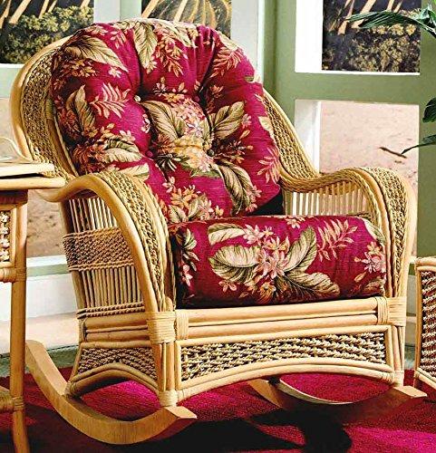 Wicker Frame Rocker Chair (Solar Kiwi (All Weather)) by Spice Island Wicker