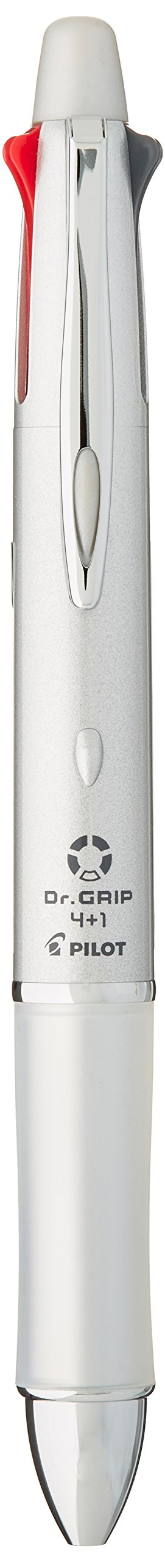 Pilot Mult Function Pen Dr. Grip 4+1, 0.7mm Acro Ink Ballpoint Pen, 0.5mm Mechanical Pencil, Silver (BKHDF1SF-SP) by Pilot