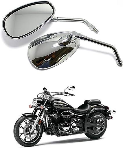 8mm 10mm Moto R/étroviseur Lat/éral Rectangle Aile R/étroviseur Pour Cruiser Scooter Chopper Touring Bobber