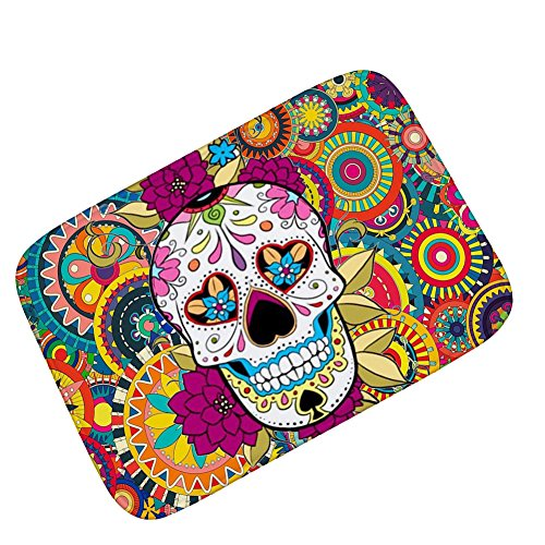 Sothread 40x60cm Halloween Decor Doormat Non-slip Printed Carpet Mats Bath Area Rug (B) for $<!--$5.88-->