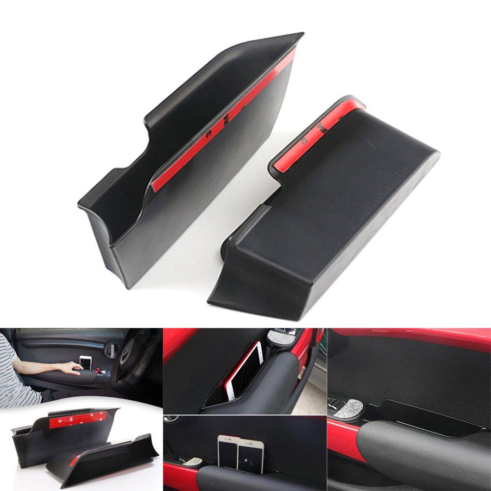 TiooDre 2PCS/set auto lato interno supporto del vassoio anteriore maniglia braccioli Storage Boxfor mini Cooper F56 HONGJIJIDIAN 8ES30M17H1HD479Y3FRY