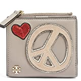 Tory Burch Wallet Coin Case Card Case Peace Embellished Mini