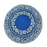 Blue and White Porcelain Anti-Slip Bedroom Mat Circle Rug Round Carpet 60x60CM