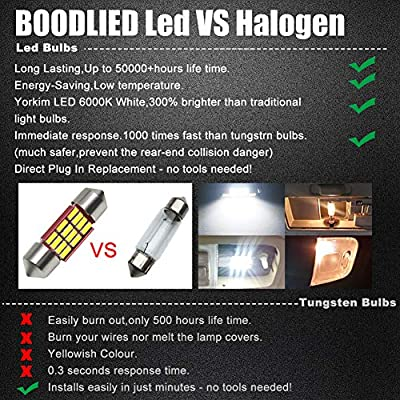 BOODLIED(2020 update) 600Lumens Canbus 31mm(1.21