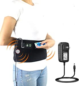 sticro Infrared Heating Pad for Lower Back Pain Relief, Vibration Massage Heated Belly Waist Wrap Belt Braces Auto Shut Off for Abdominal Cramps, Arthritis, Period, Stomach Pain