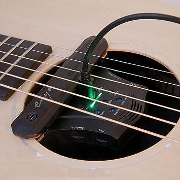Enya G0 - Transductor eléctrico acústico para guitarra acústica, amplificador de guitarra eléctrica y acústica