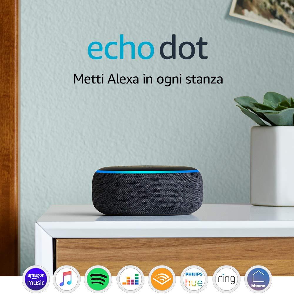 Echo Dot (3� generazione) - Altoparlante intelligente con integrazione Alexa - Tessuto antracite: Amazon.it