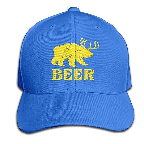 Xdevrbk Cerveza Divertido Ciervo Oso Regalo Animal Gorras Planas ...