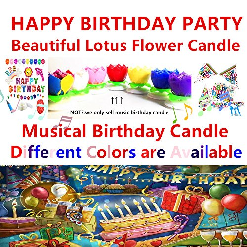 2 Pieces Music Birthday Candle