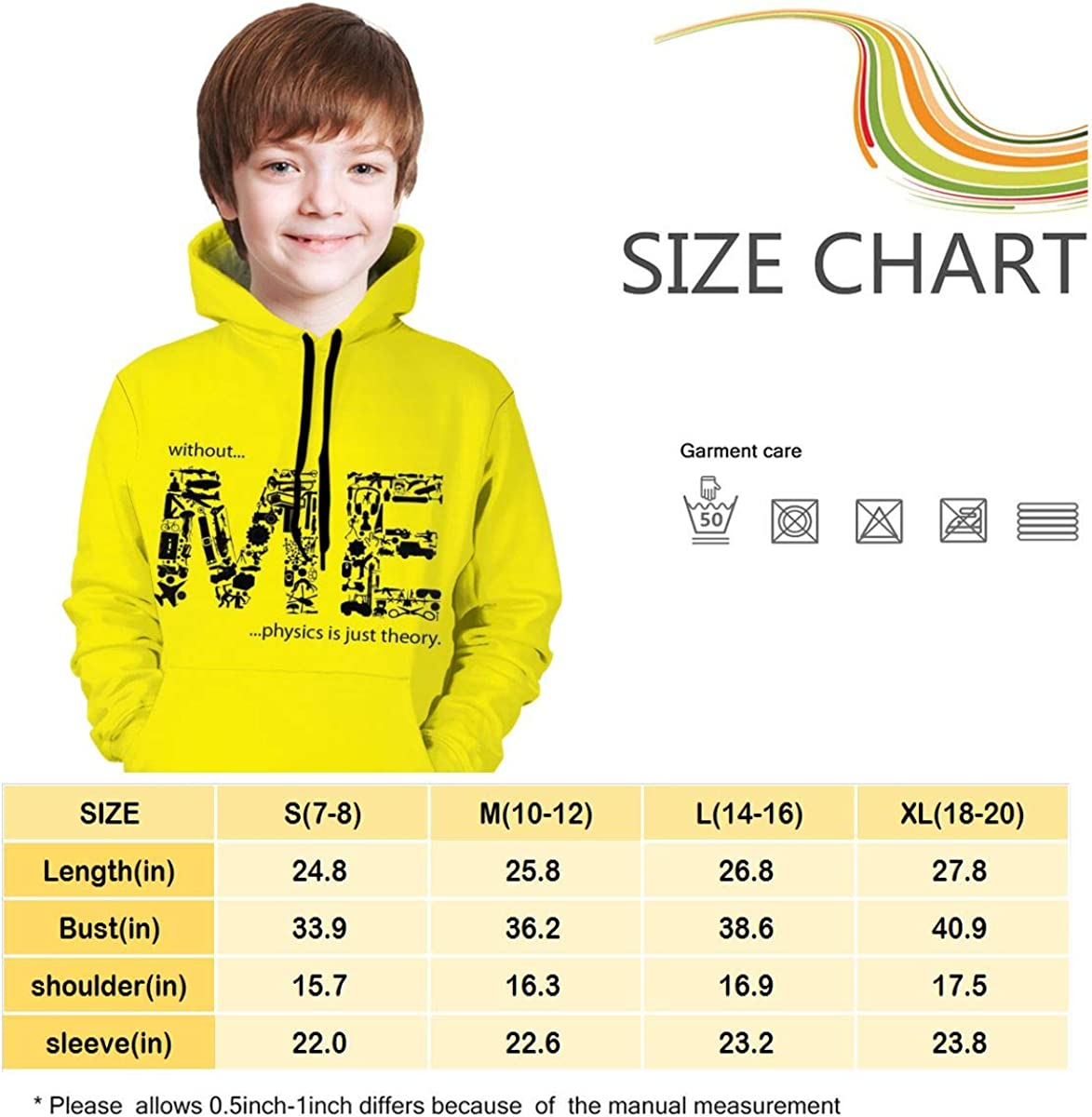 Kjiurhfyheuij Teen Pullover Hoodies with Pocket Me Soft Fleece Hooded Sweatshirt for Youth Teens Kids Boys Girls
