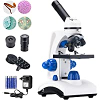 Vanstarry Beginners Microscope Kit 40X-1000X for Kids & Students, Dual LED Lights and Cordless Capability, Illumination…