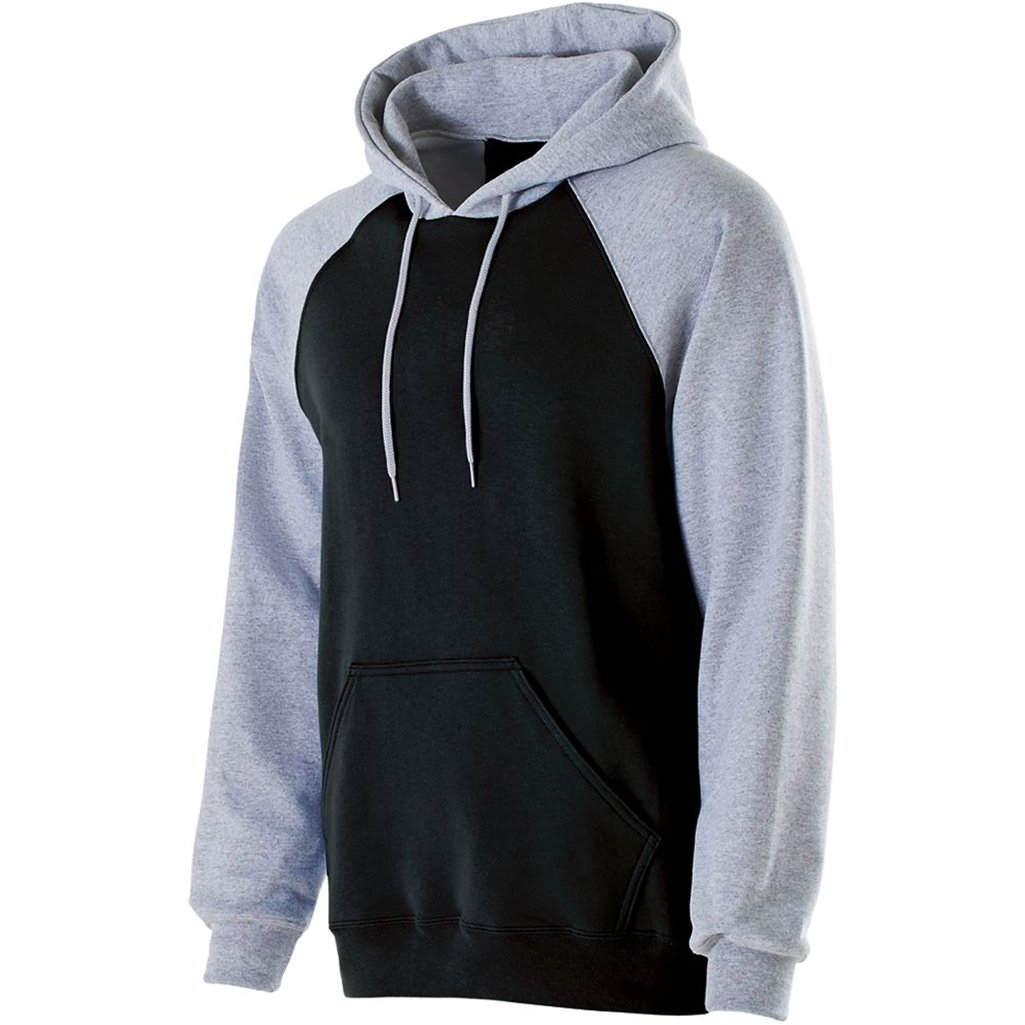 Holloway Youth Banner Hoodie (Medium, Black/Athletic Heather) by Holloway