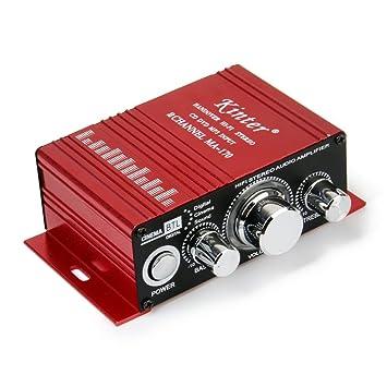 Rojo De Mini Motos De Mp3 Del Coche De Alta Fidelidad Del Amplificador De Audio Estereo