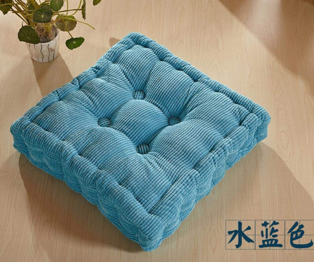 Tufted Support Padded Boosted Cushion, Japanese Style Tatami Floor Pillows Thick Square Chair Pads For Home Office Chair(45×45cm) Hete-supply