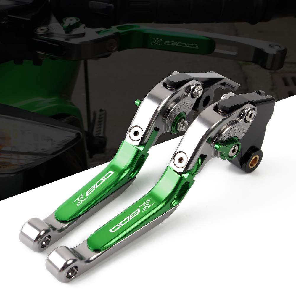 Palanca de embrague de freno extensible CNC aluminio para Kawasaki Z1000 2007-2016