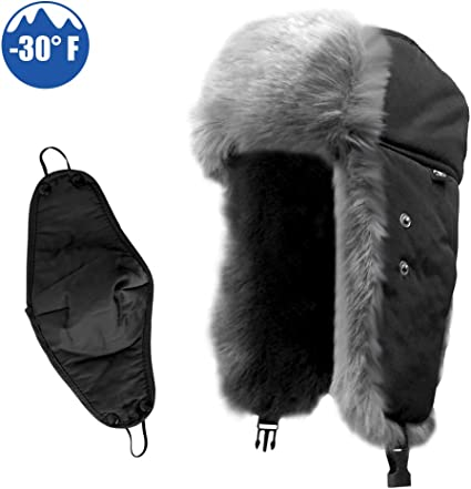 Hot Unisex Men Winter Trapper Aviator Trooper Earflap Warm Ski Hat With Mask JUS
