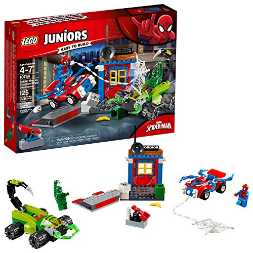 LEGO Juniors/4+ Marvel Super Heroes Spider-Man vs. Scorpion Street Showdown 10754 Building Kit (125 Piece) JungleDealsBlog.com
