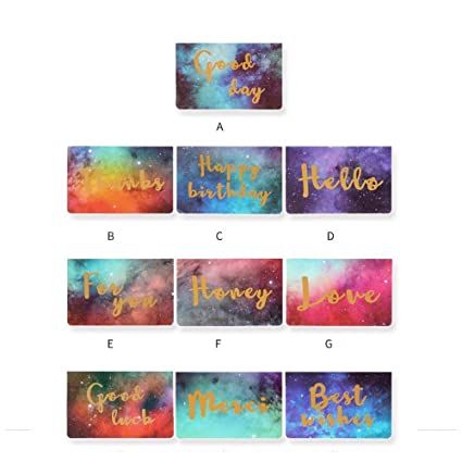 Cartes De Vœux 10 Pcs Créative Nouvel An étoilé Noël Carte