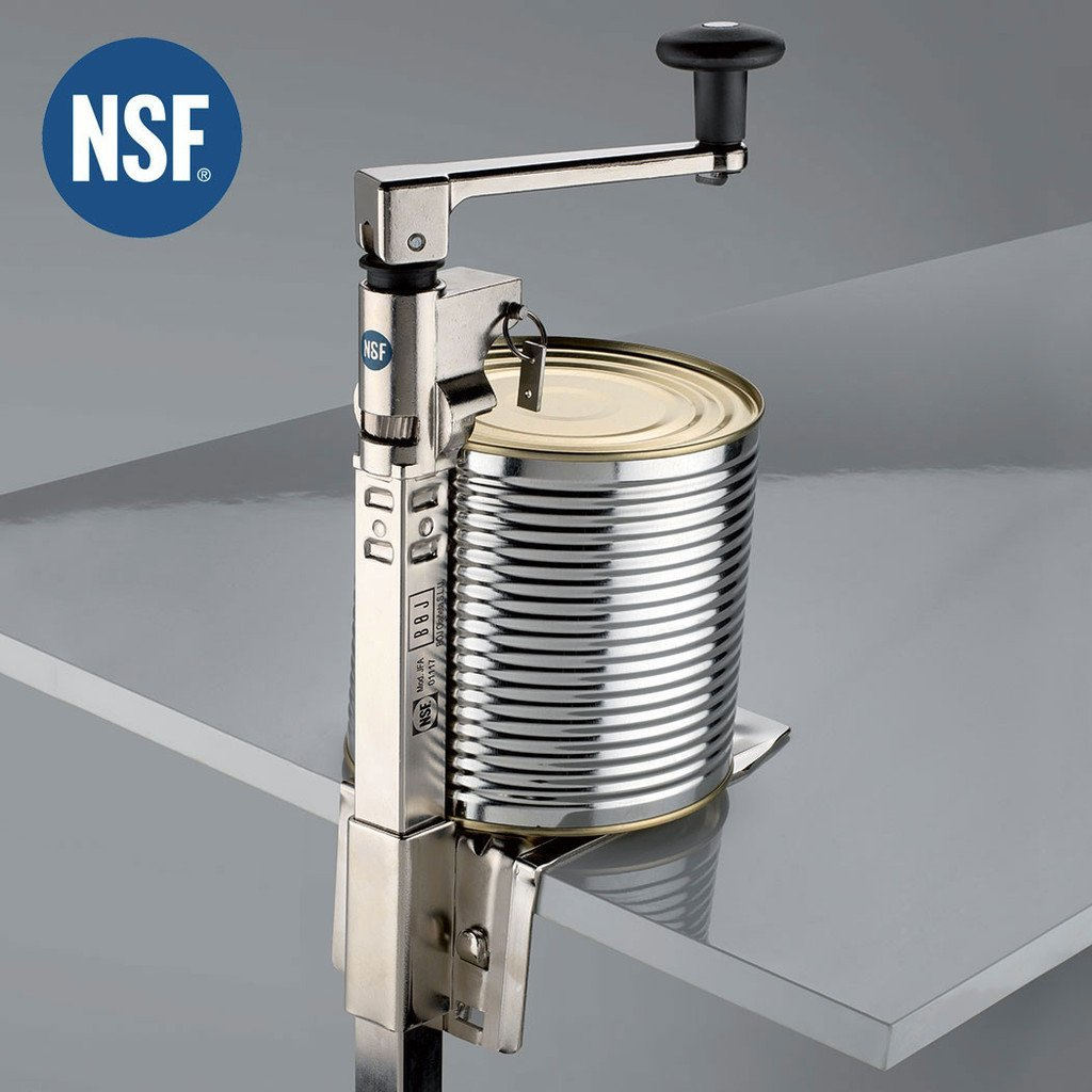 BOJ (01117) Can Opener NSF Certified for Heavy Duty & Table Mount (Nickel Plated for Food Service Commercial Kitchen Restaurant) with 19