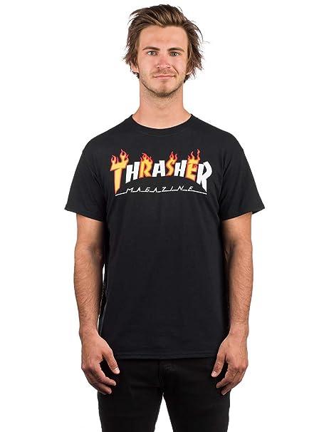 ad82041b123 Thrasher Magazine Flame Mag T-Shirt Black 2018: Amazon.co.uk: Clothing