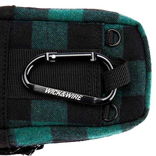 Stash Case (Green Plaid) Vape Case, Premium Vape Bag, Portable Vape
