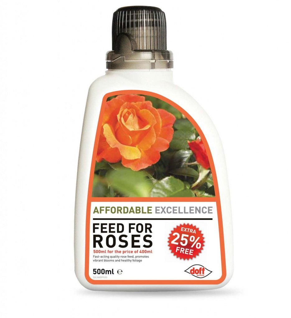 Roses Fertiliser Rose Feed Plant Food Doff Value Feed For Roses 400Ml+25% Extra