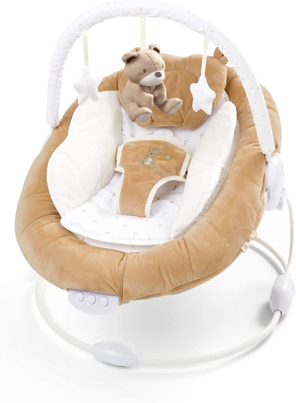Soft Padded Baby Teddy Bear Bouncer Recliner with Soothing Music Vibration and Toys 0m+ (078)