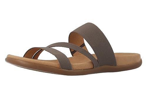 Gabor Damen Pantoletten Taupe Schuhe in Übergrößen