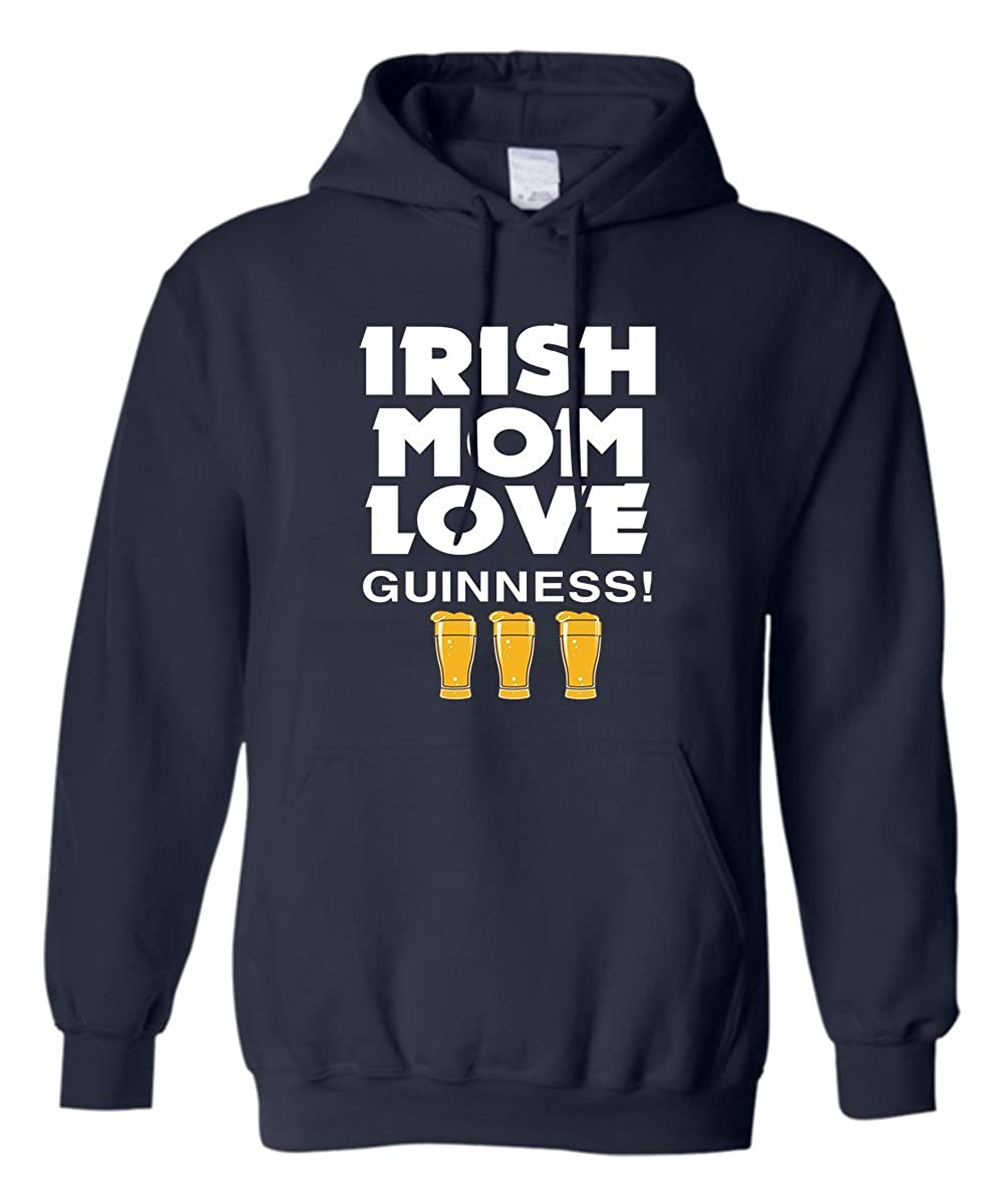 z-candy St Patricks Day Hoodie Irish Mom Love Guinness Best Gift for Your Mom Black