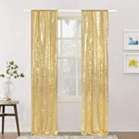 Eternal Beauty Glitter Sequin Backdrop Curtains for Wedding Party Decor, Sequence Christmas Backdrop Curtain (2 Pack, W2…
