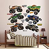 Fathead Cartoon Monster Jam Trucks Collection Vinyl Decals