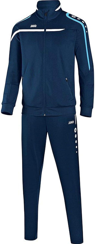 JAKO Fu/ßball Trainingsanzug Performance Kinder Sportanzug Jacke Hose Marine wei/ß hellblau
