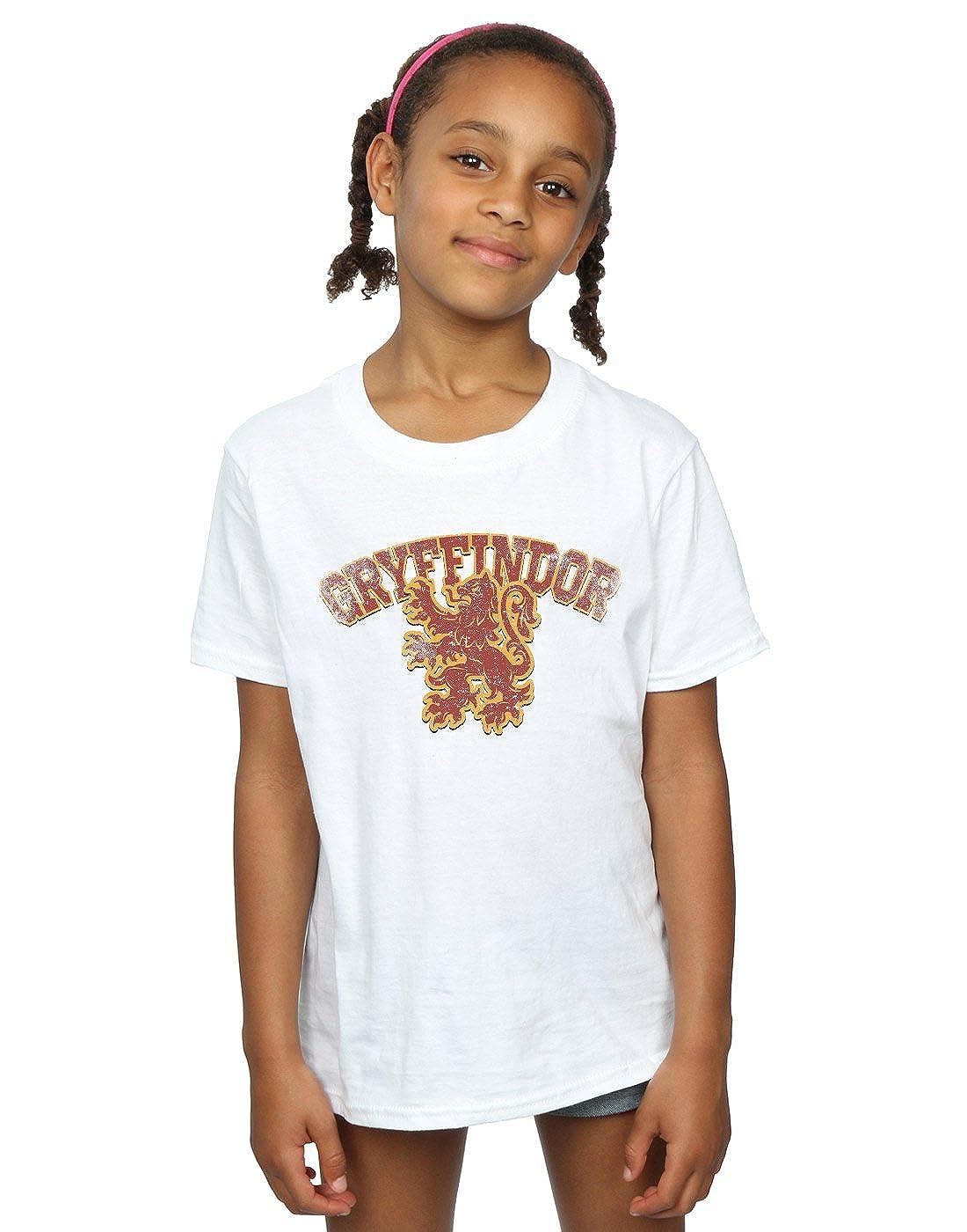Harry Potter Girls Gryffindor Sport Emblem T-Shirt Absolute Cult
