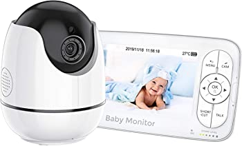 Omorc 5 Inch 720P HD Display Baby Monitor with Camera and Audio