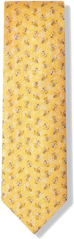 Yellow Bees Microfiber Necktie Tie Neckwear