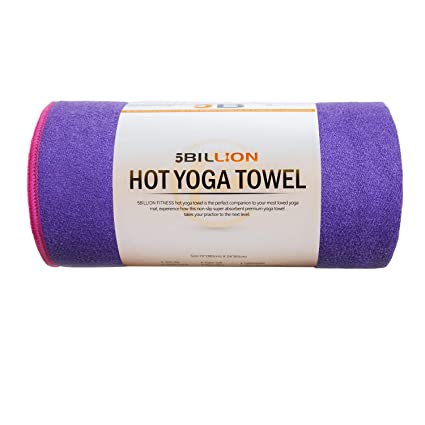 5BILLION Microfibra Toalla de Yoga - 183cm x 61cm - Hot Toalla de Yoga, Bikram Toalla de Yoga, Ashtanga Toalla de Yoga - Antideslizante, Absorbente, ...