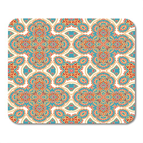 (Emvency Mouse Pads Morrocan Oriental Pattern Byzantine Indonesian Abstract India Mousepad 9.5