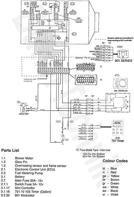 Amazon.com: Eberspacher Airtronic Heater 801 temperature controller with  diagnostic   80110003: Everything ElseAmazon.com