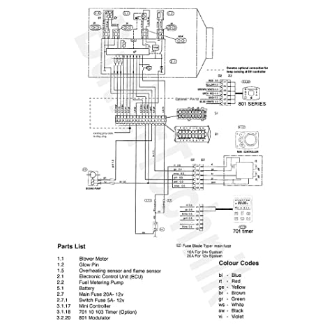 Eberspacher 801 Control Wiring Diagram - Data Wiring Diagrams •