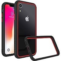 RhinoShield Coque pour iPhone XR [CrashGuard NX] Protection Fine Personnalisable - Technologie Absorption des Chocs [sans BPA] + [Programme de Remplacement Gratuit] - Combo Noir/Rouge